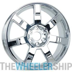 Set Of 4 New Replacement Wheels For Cadillac Escalade 2007 2013 22 Chrome 5309