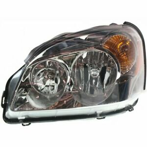 Headlight For 2006 2007 Buick Lucerne Left Halogen Clear Lens With Bulb