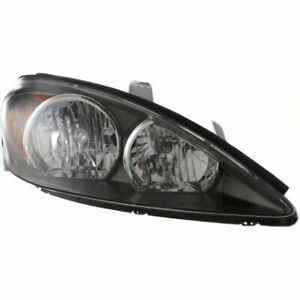 Headlight For 2002 2004 Toyota Camry Right Halogen Black Interior With Bulb