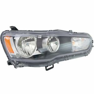Headlight For 2008 2009 Mitsubishi Lancer Right Halogen Clear Lens With Bulb
