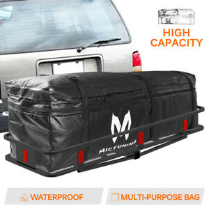 Hitch Rack Cargo Carrier Bag Waterproof 9 5 Cu Ft Expandable To 11 5 Cu Ft