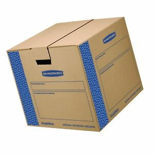 Bankers Box Smoothmove Prime Moving Boxes Tape free Fastfold Free Shipping