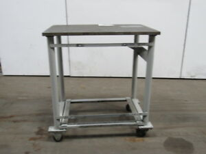 1 Thick Top Steel Machine Base Welding Table Work Bench 36x24x39 3 4 W casters
