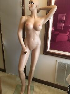 Female Full Body Sexy Big Bust Mannequin Realistic Face And Make up W Base