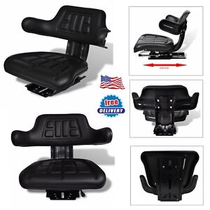 Outdoor Universal Garden Lawn Tractor Seat Cover With Backrest Armrest Steel Pvc