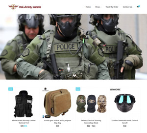 Military Gear Turnkey Website Business For Sale Profitable Dropshipping