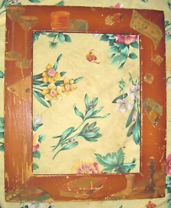 Picture Frame Old Wood Folk Art 9 X11 5 Opening Nice