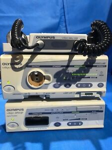 Olympus Otv s7 Digital Processor W Olympus Clv s40 Light Source Maj 1236