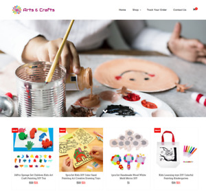 Arts And Crafts Turnkey Website Business For Sale Profitable Dropshipping