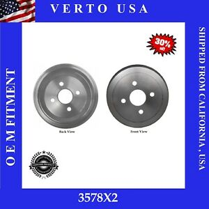 Rear Brake Drums For Toyota Corolla Chevy Prizm 1998 To 2002