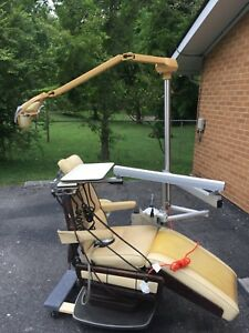 Dental Chair With Overhead Lights And Delivery Unit
