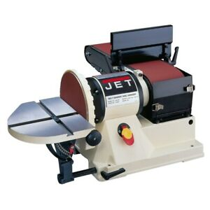 Jet 708595 Jsg 96 Benchtop 6 X 48 Belt 9 Disc Sander 3 4hp 1ph 115v