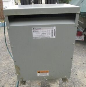 3 Phase General Electric 45kva Transformer 9t23b3853