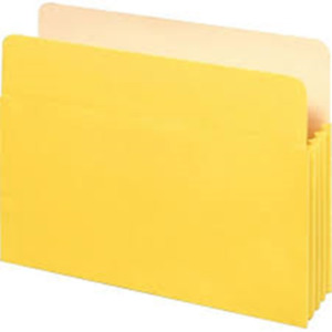 Staples 614653 Top tab File Pockets 3 1 2 Expansion Letter Yellow 25 bx