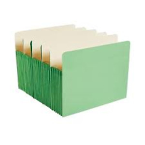Staples Top Tab File Pockets 5 1 4 Expansion Letter Green 25 bx Free S h