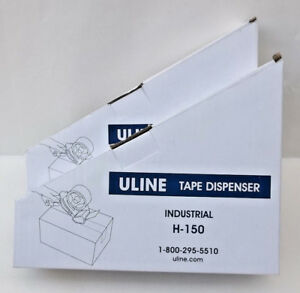 Two Uline H 150 2 inch Hand held Industrial Side Loading Tape Gun Dispenser