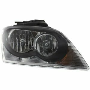 Headlight For 2005 2006 Chrysler Pacifica Right Clear Lens Halogen Composite