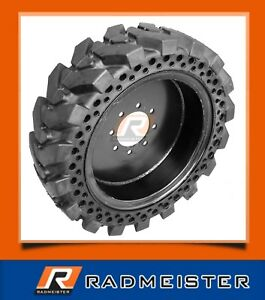 10 16 5 10x16 5 Set Of 4 Flat Proof Solid Skid Steer Tires For Case