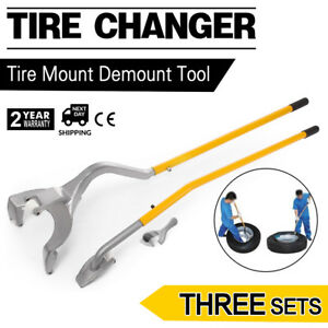3pcs Tire Changer Mount Demount Bead Tool Clamp Steel Pipe Removal