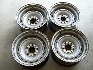 4 67 72 73 87 Chevy Gmc Truck Suburban Blazer 15x8 5 Lug Rally Gm Steel Wheels