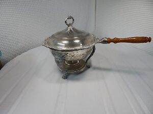 Vintage Sheridan Silverplate Co Claw Footed Chafing Dish