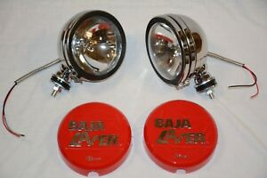 Stainless 6 Baja Kc Style Off Road Lights 130w Truck Jeep Red Covers 4x4 Ss