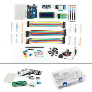 New Ultimate Uno R3 Starter Kit For Arduino 1602 Lcd Servo Motor Relay Led Rtc