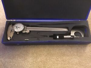 Fowler Metrology 6 0 001 Dial Caliper And 0 1 0001 Micrometer With Case