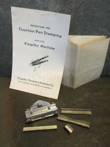 Kingsley Fountain Pen Attachment Spacers Manuals Hot Foil Stamping