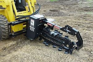 Bradco 625 Trencher Attachment For Skid Steers Digs 36 Deep 6 Wide 2 Position