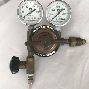 Matheson Regulator With 63 3112 0 100psi And 63 3133 0 3000psi Gauges Steam Punk