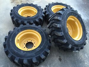 12 16 5 Hd Skid Steer Tires wheels rims camso Sks532 12x16 5 For Caterpillar