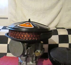 Vintage Low Profile Pancake Air Cleaner For 6 Cyl Chevy Street Racer Hotrod Hp