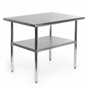 Gridmann Stainless Steel Commercial Kitchen Prep Work Table 36 In X 24 In