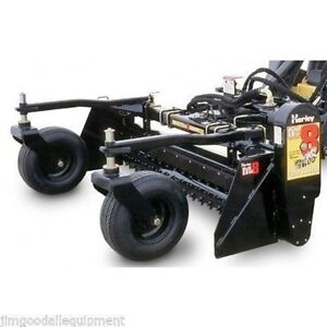 Harley Power Landscape Rake For Skid Steers 84 Wide hydraulic Angle shipsameday