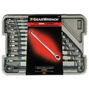 Gearwrench 85988 Metric Xl Gearbox Double Box Ratcheting Wrench Set 12 Pc