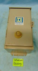 Square D Metal Enclosure Class 8536 Type Sda 1 Series A Starter Size 1