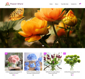 Established Flower Turnkey Website Business For Sale Profitable Dropshipping