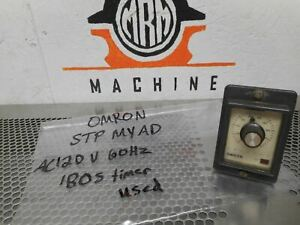Omron Stp myad Timer Module Ac120v 60hz 180s Used With Warranty