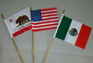 Mexican American California Bear Flags For License Plate Topper Usa Mexico