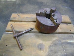 10 Inch 10 Industrial 3 Jaw Lathe Chuck With Key