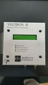 Lot Of 2 Veltron Ii Pressure And Flow Transmitter Air Monitor Corporation