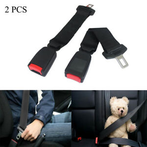 2pcs 14 Car Seat Belt Seatbelt Safety 7 8 Buckle Extender Extension Black