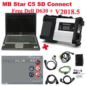 V2018 5 Mb Sd C5 Sd Connect Compact 5 Star Diagnostic Tool With Free Dell D630