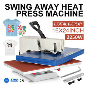 16 x24 Digital Heat Press Machine Sublimation Transfer T shirt Cap Mug Printing
