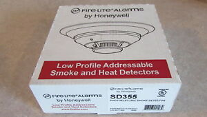 Honeywell Fire Lite Sd355 Photoelectric Addressable Smoke Detector Free Ship