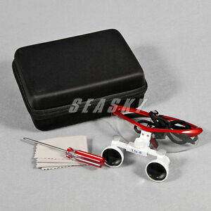 Dental 3 5x 420 Mm Binocular Loupe Glasses Loupes Red Ship From Usa