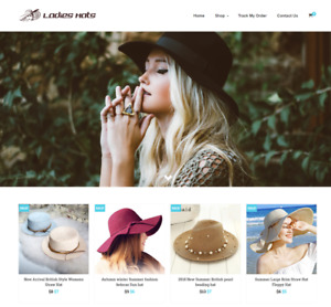 Ladies Hats Turnkey Website Business For Sale Profitable Dropshipping