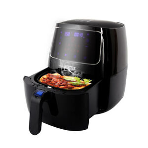 Kiaster Electric 3 7qt Digital Air Fryer W Lcd Touch Screen 10 Cooking Preset