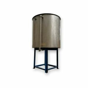Used Stainless Steel Liquid Tank 140 Gallon